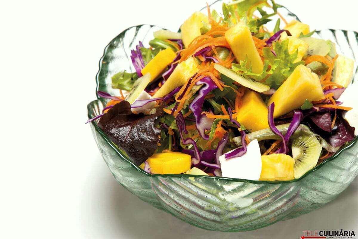 salada de primavera da teleculinária