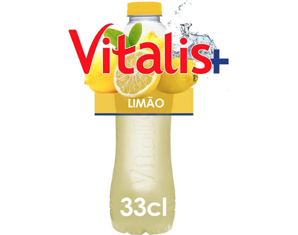 garrafa de água de limão da vitalis